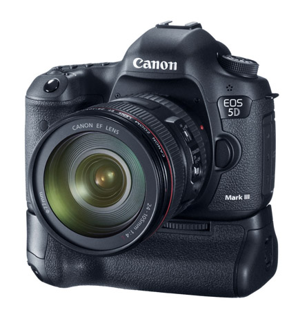 Canon 5D with Lens and Battery Grip Attached