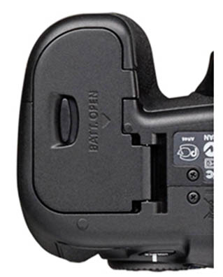 bottom of Canon EOS 60D - Battery Door