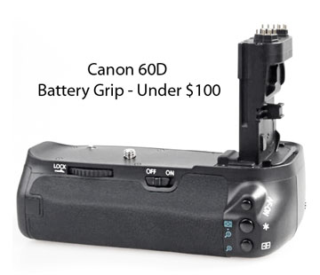 Canon 60D battery grip for under $100