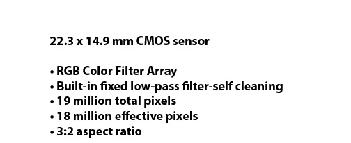 Canon 60D Sensor Specifications