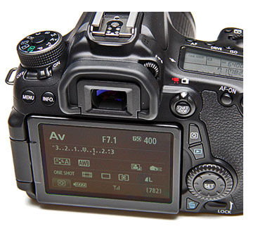 The Canon EOS 70D has a Touch-screen LCD for Menu Driven Control