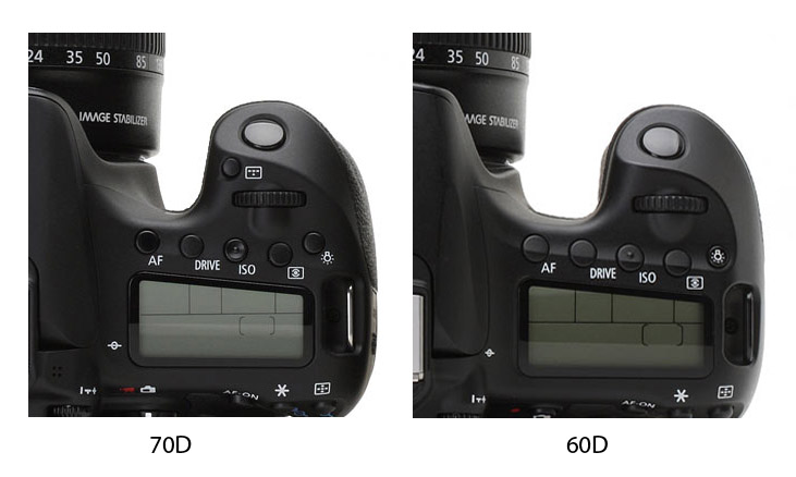 Canon 70D vs 60D Grip Comparison