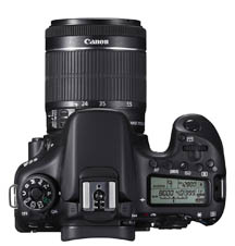 canon 70D With 18-55mm Lens Attached