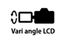 Vari-angle 70D LCD Screen