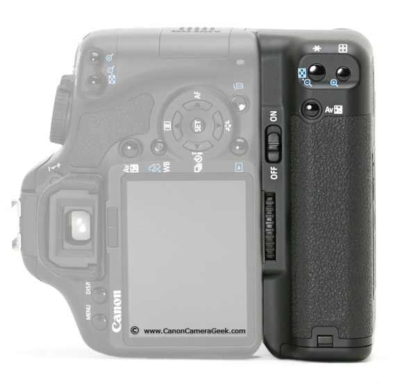 Canon BG-E5 Battery Grip in Vertical Position