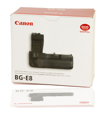 Box for the Canon BG-E8 battery grip