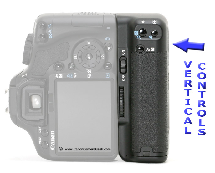 Canon BG-E9 Grip in Vertical Position