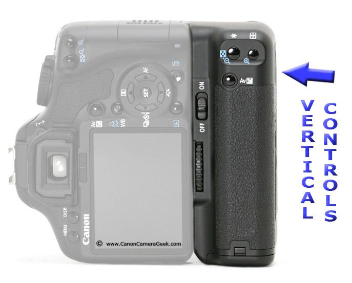 Canon BG-E9 Grip in Vertical Position