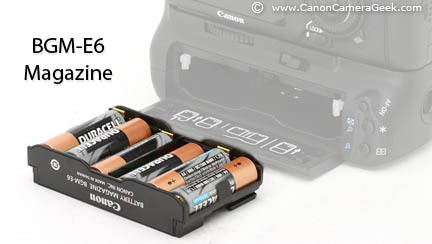 Canon BGM-E6 Battery Magazine for BG-E7 Battery Grip