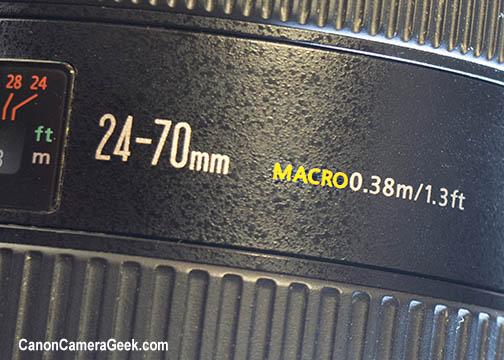 Canon EF 24-70mm f/2.8 Macro Lens