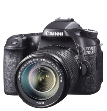 Canon 70D with 18-135mm lens attached