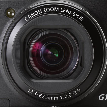 Close-up photo of Canon G1X Mark II Lens
