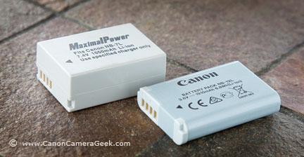 Canon G1x mark II battery vs G11 battery