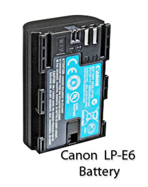 Canon LP-E6 battery for Canon 60D