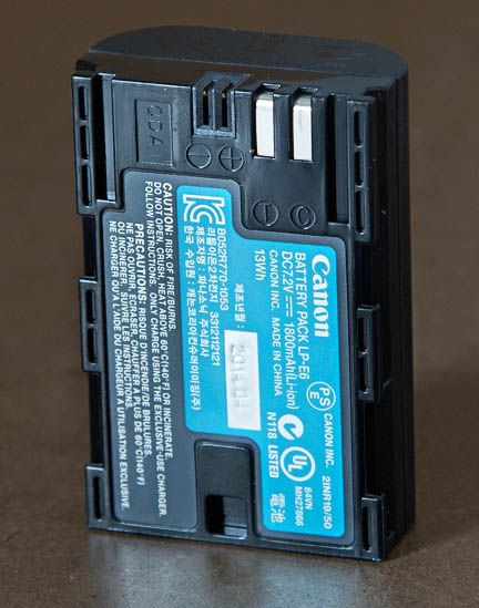 LP-E6 battery for EOS 70D