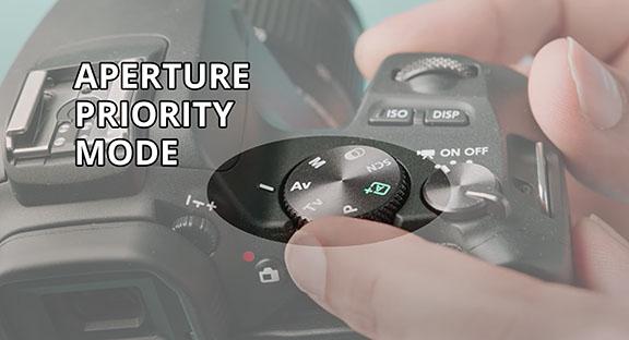 Canon SL3 Aperture Priority Mode