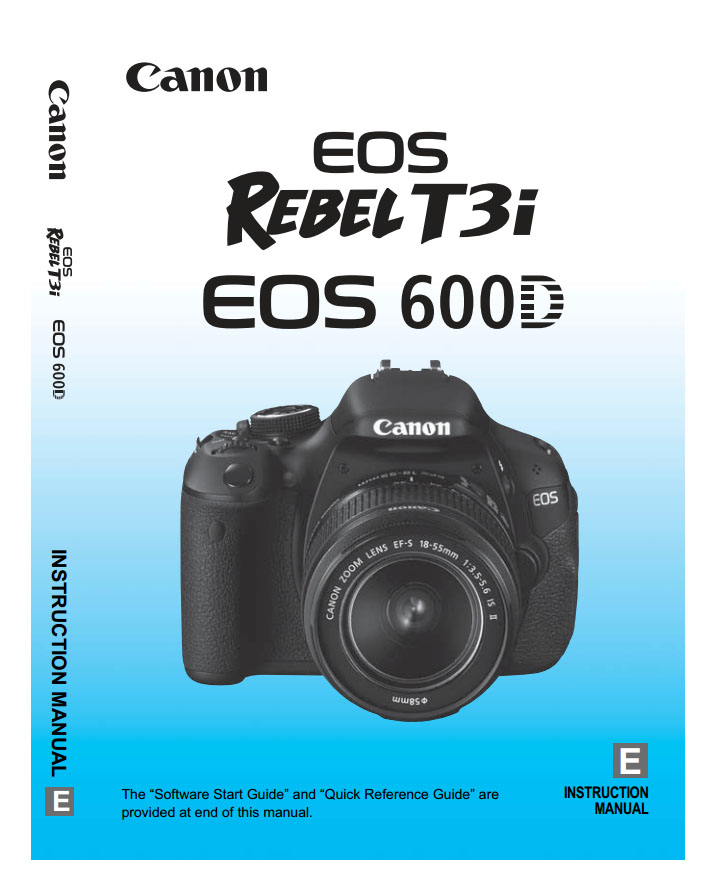 One of the most useful Canon T3i Accessories is the Canon T3i Manual - Photo of Cover