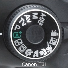 Canon T3i Mode Dial