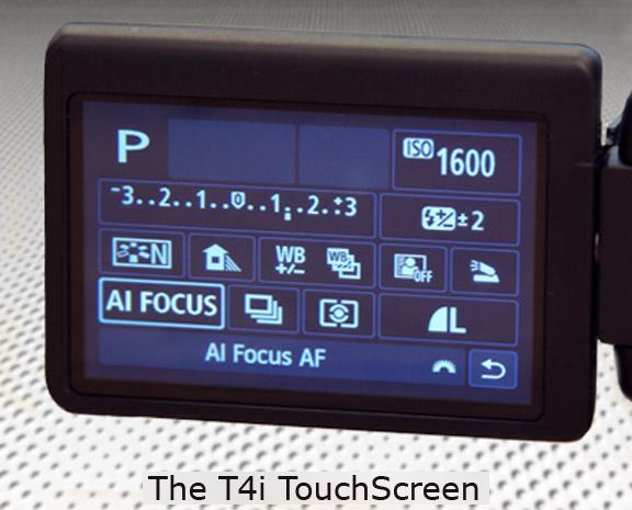 Canon T4i LCD Touchscreen Menu