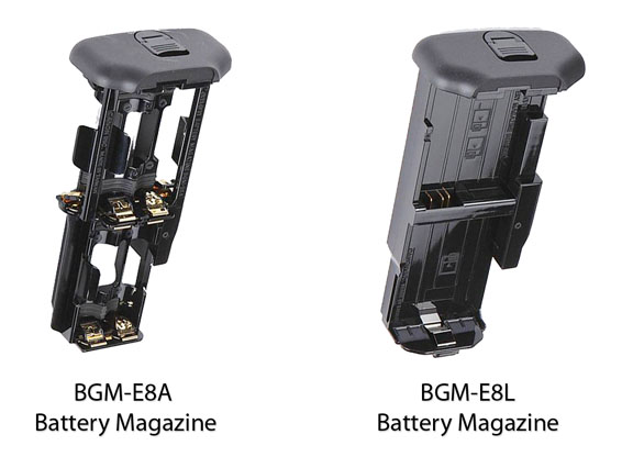 Canon Battery Grip Magazine Comparison Photo