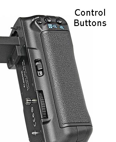 Canon Battery Grip - Vertical Camera Control Buttons