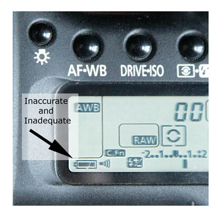 Battery Powere Remaining Indicator is Inadequate and Inaccurate