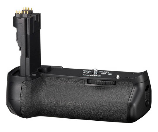 Front view of genuine Canon bg-E9 Battery Grip