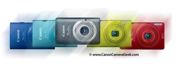 Canon Elf Camera Line-up