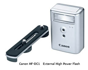 Canon external flash for Powershot Elph