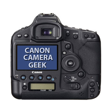 Canon EOS 1D C LCD Screen
