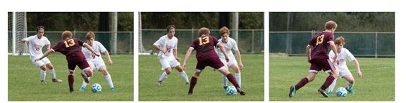 Soccer photos sequence - Canon 70D Camera