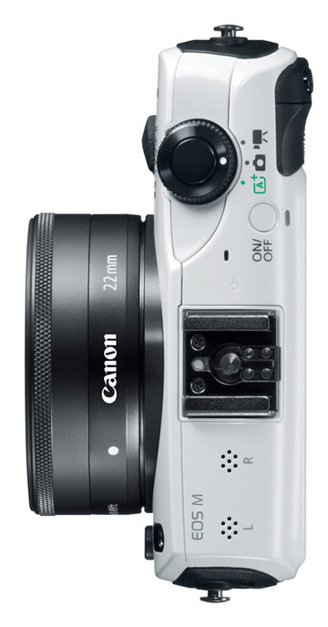 Alternative view of the Canon EOS-M camera