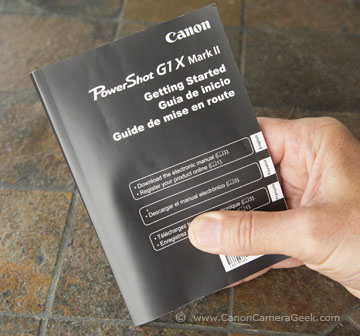 Canon G1X Mark II Manual