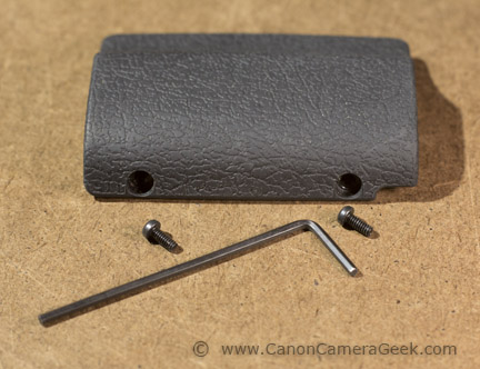 USA Canon G1X Mark II grip, set screws, and wrench
