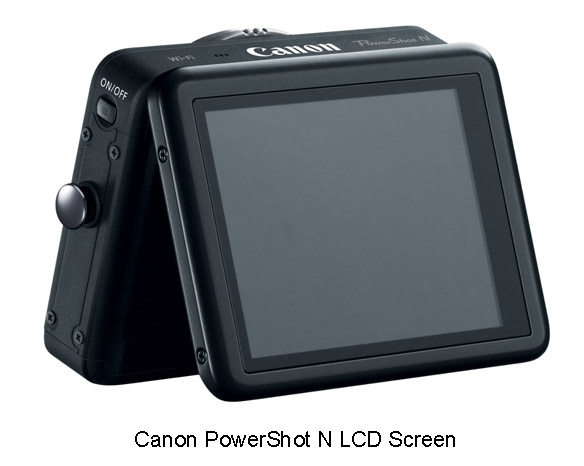 Canon PowerShot N LCD Screen
