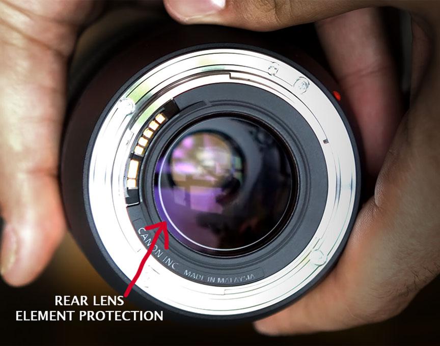Rear Lens Element of Canon 70-300mm Lens