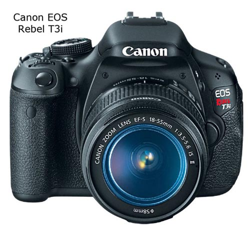 Front view of Canon Rebel t3i