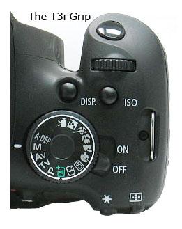 Canon rebel T3i-grip