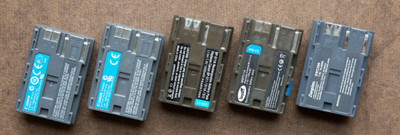 Canon Replacement Battery Collection