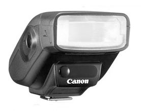 Photo of the portable Canon Speedlite 270EX II