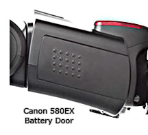 Canon Speedlite 580EX Battery Door