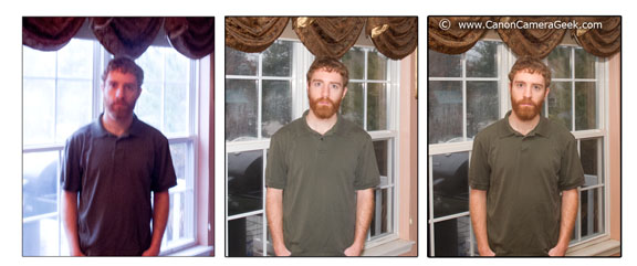 With and without Canon speedlite