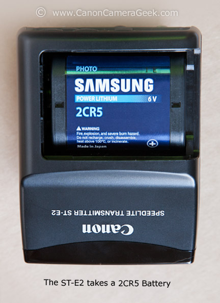 Canon Speedlite Transmitter ST-E2 Battery -  2CR5