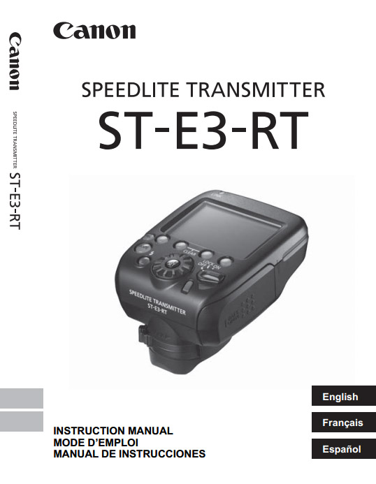cover of Canon Speedlite Transmitter ST-E3-RT Manual