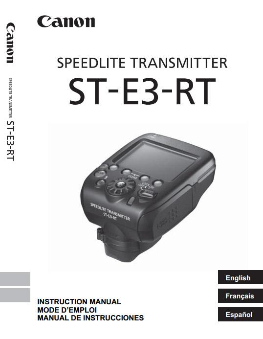 cover of Canon Speedlite Transmitter ST-E3-RT Manual