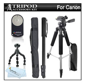 There are even bundles for the Canon t3i that are built around tripods