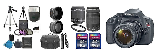 Canon Rebel t5i Camera Kit With Accessories