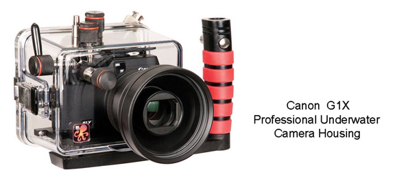 Canon waterproof camera housing for G1X