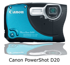 Canon waterproof  PowerShot D20 Camera