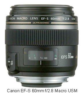 Canon EF-S 60 f2.8 macro lens for Canon